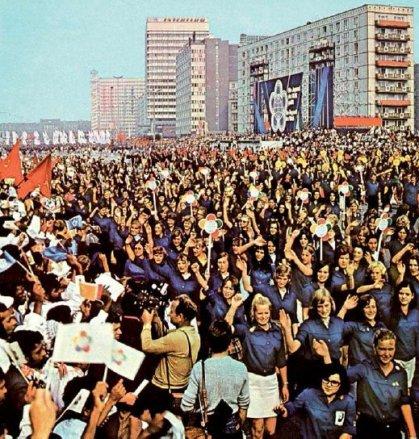 X. Weltfestspiele der DDR - FDJ-Aufmarsch in Ostberlin, 1973