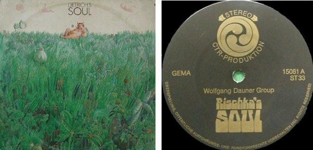 "Frontcover + Label der Privatpressung ""Dietrich Soul"" (1970)"