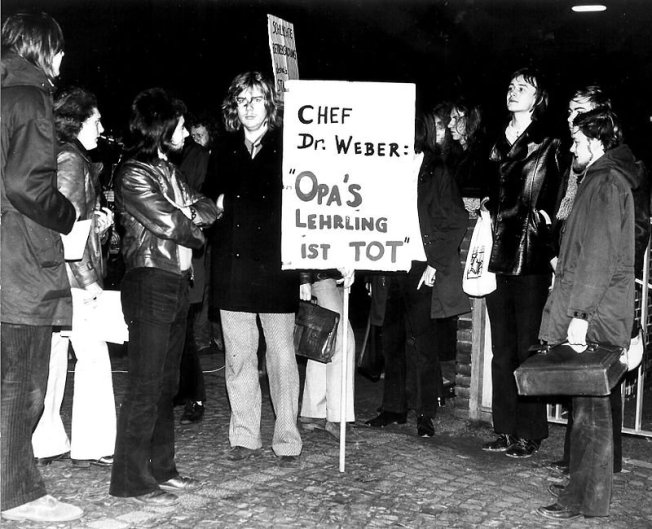 Lehlings-Demo in Hamburg, 1970