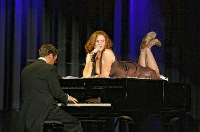 Pe Werner mit dem Pianisten Peter Grabinger (2013)