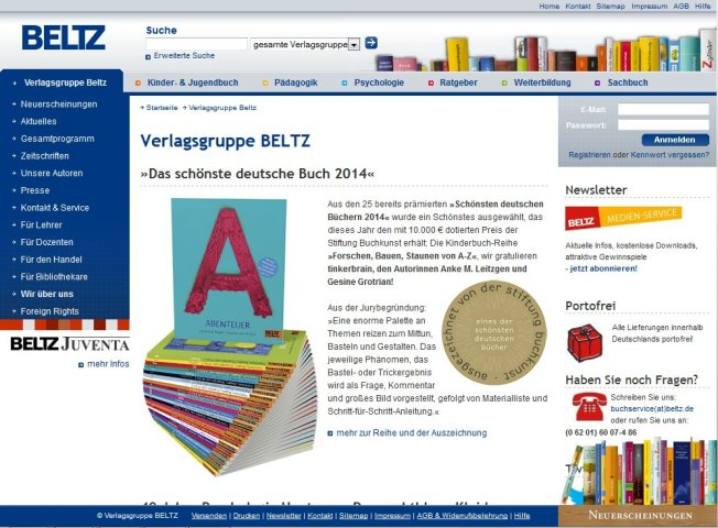 Aktuelle Website (27.09.2014)