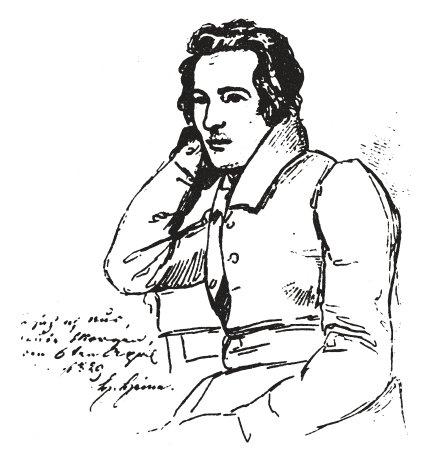 Heinrich Heine (Stich von E. Mandel nach einer Zeichnung)