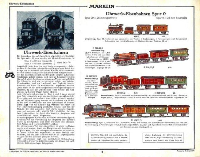 Aus dem Katalog des Jahres 1932