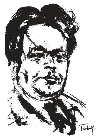 Kurt Tucholsky. (Lithographie von E. Stumpp, 1930)