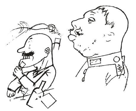 Karikatur von George Grosz: »Vertreter der herrschenden Klasse«