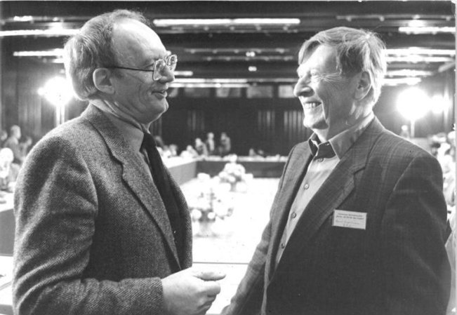 Bert Engelmann 1987 (rechts), zusammen mit Hermann Kant