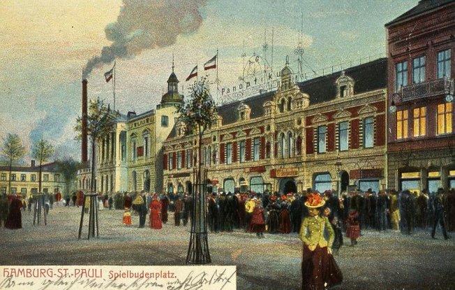 Historische  Postkarte: St. Pauli (Spielbudenplatz)