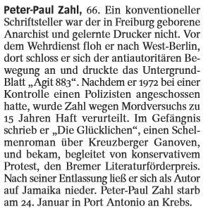 """Nachruf im """"Spiegel"""" (05/2011)"""