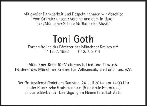 ToniGothTodesanzeige