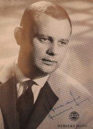 Autogramm-Karte, 1964