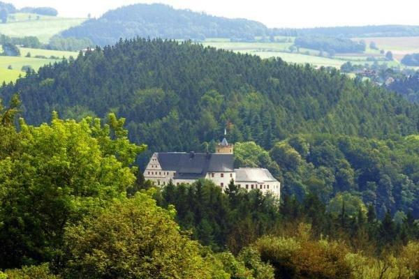 Die Burg Scharfenstein im Erzgebirge