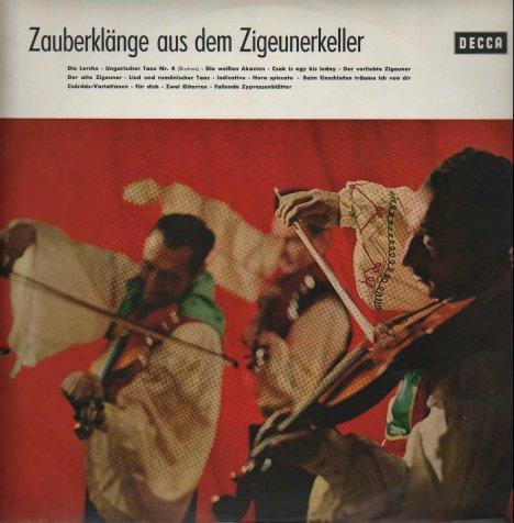 """Alternatives Frontcover (Teil dieser LP: """"Zauberklänge aus dem Zigeunerkeller"""")"""