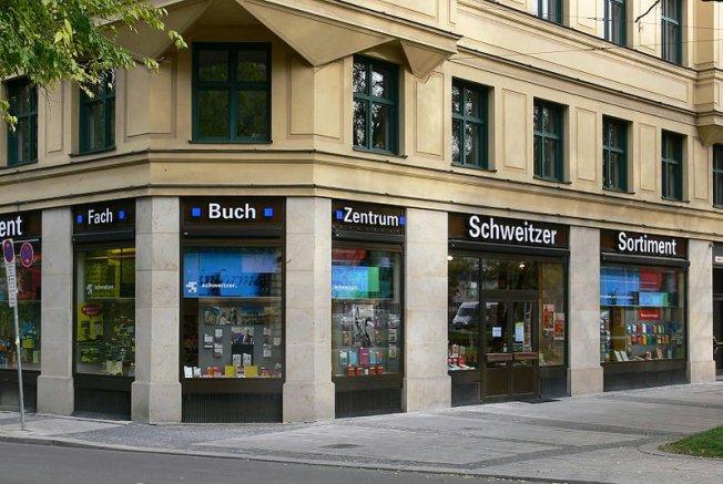 """Die alt-ehrwürdige Buchhandlung """"Schweitzer Sortiment"""" am Lenbachplatz in München gehört auch dem Beck-Verlag"""