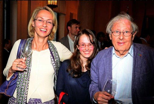 Susanne Schüssler, Klaus Wagenbach + Tochter Helene (2012)