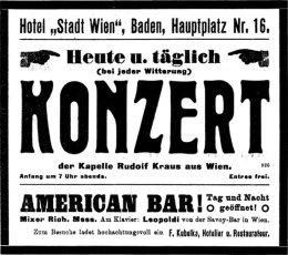 """""""Am Klavier: Leopoldi von der Savoy-Bar in Wien"""", Baden, 1913"""