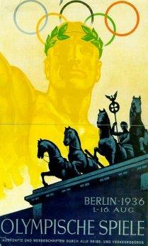 Plakat zu den Olympischen Spielen 1936