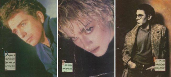 Damals wohl sehr angesagt: Peter Gabriel, Madonna + Paul Simon