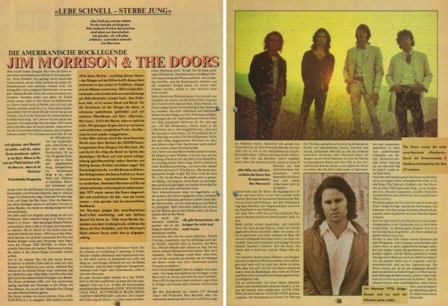 """Die Titelstory über die """"Doors"""""""