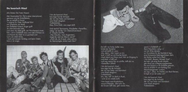 Man sieht richtig: Auch die Toten Hosen hatten ihren Anteil an diesem Album