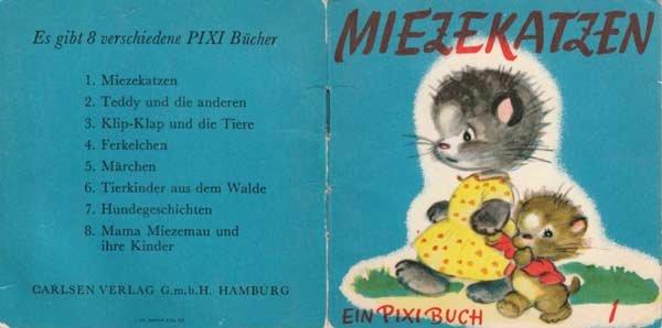 """Das allererste Pixibuch; """"Mietzekatzen"""" (1954)"""