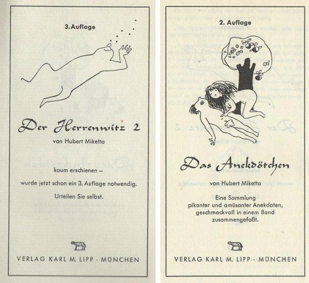 Scheinberg war dieses Buch erfolgreich: Hier die Werbung zu