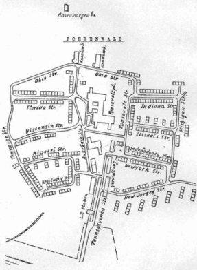 Plan des Lagers Föhrenwald