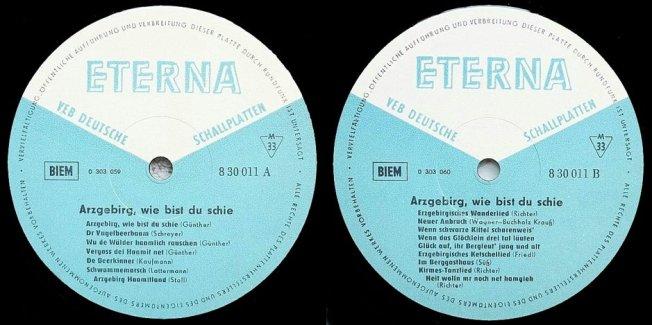 Die Labels der Originalausgabe aus dem Jahre 1969